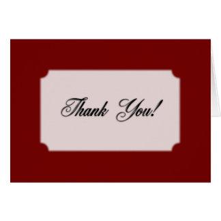 Burgundy Thank You Card Blank Inside