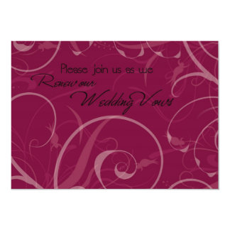 Burgundy Vow Renewal Ceremony Invitation Card