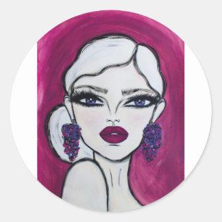 Burgundy - Wendy Buiter - Classic Round Sticker