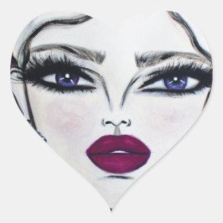 Burgundy - Wendy Buiter - Heart Sticker