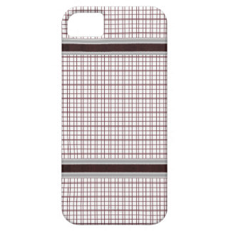 Burgundy Wine and White Checkered Pattern iPhone 5 Covers