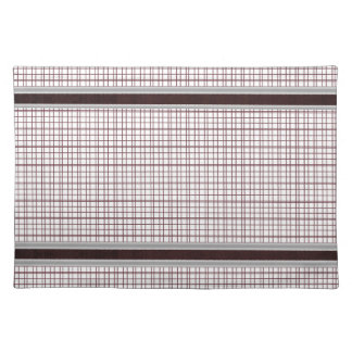 Burgundy Wine and White Checkered Pattern Placemat