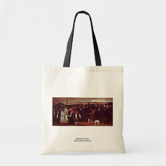 Burial At Ornan By Courbet Gustave Canvas Bag