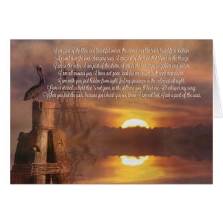Burial at Sea Deepest Sympathy Spiritual Poem Card