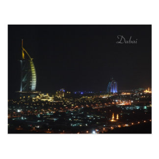Burj Al Arab at night, Dubai - Postcard