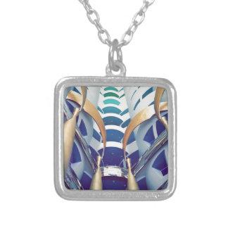 Burj Al Arab Inside Silver Plated Necklace