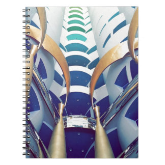 Burj Al Arab Inside Spiral Notebook