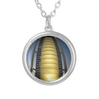 Burj Al Arab Silver Plated Necklace