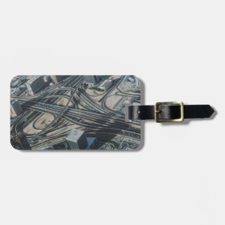 Burj Khalifa road view,Dubai Luggage Tag