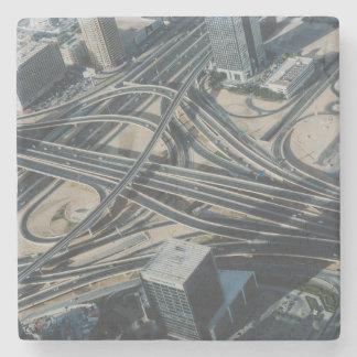 Burj Khalifa road view, Dubai Stone Coaster