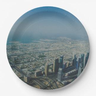 Burj Khalifa view, Dubai Paper Plate