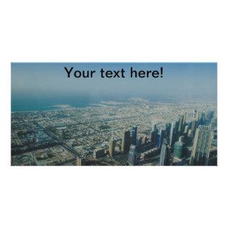 Burj Khalifa view, Dubai Photo Greeting Card