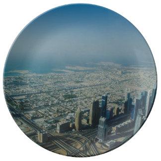 Burj Khalifa view, Dubai Plate