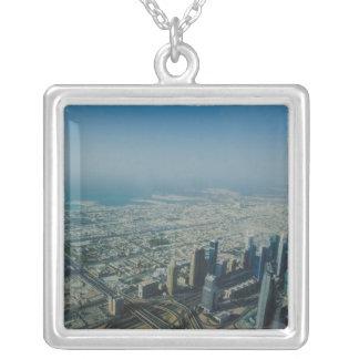 Burj Khalifa view, Dubai Silver Plated Necklace