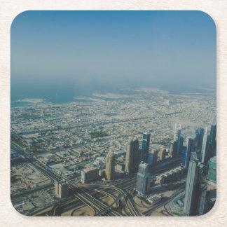 Burj Khalifa view, Dubai Square Paper Coaster