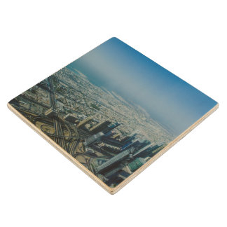 Burj Khalifa view, Dubai Wood Coaster