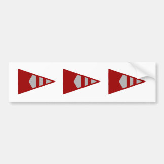 Burke Sailing Burgee Bumper Stickers (Version 2)