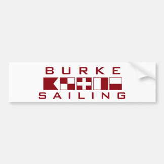 Burke Sailing Nautical Flags Bumper Sticker