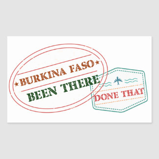 Burkina Faso Been There Done That Rectangular Sticker