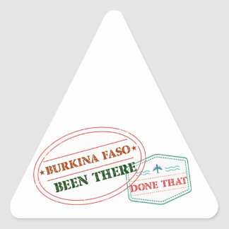 Burkina Faso Been There Done That Triangle Sticker