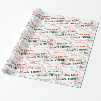 Burkina Faso Been There Done That Wrapping Paper