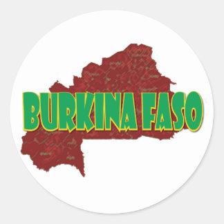Burkina Faso Classic Round Sticker