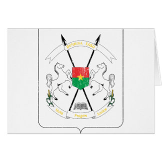 Burkina Faso Coat Of Arms Card