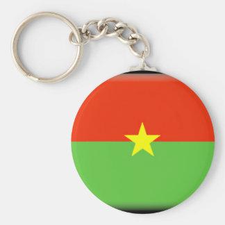 Burkina Faso Flag Key Ring