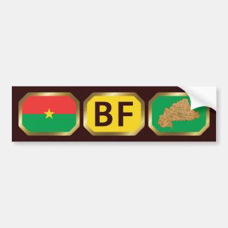 Burkina Faso Flag Map Code Bumper Sticker