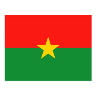 Burkina Faso Flag Postcard