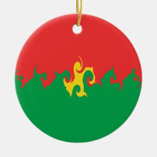 Burkina Faso Gnarly Flag Ornaments