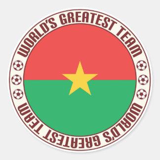 Burkina Faso Greatest Team Classic Round Sticker