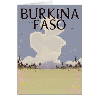 Burkina Faso landscape travel poster print Card