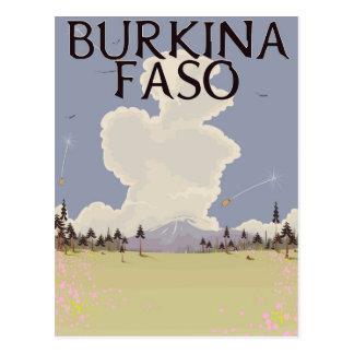 Burkina Faso landscape travel poster print Postcard