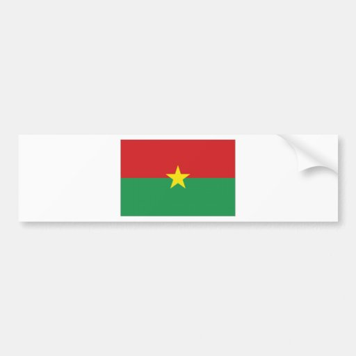 Burkina Faso National Flag Bumper Sticker