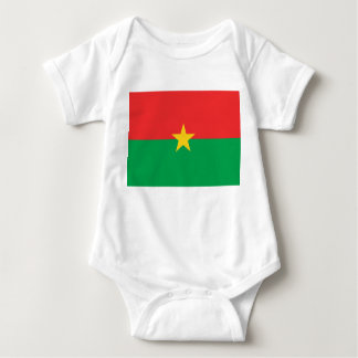 Burkina Faso National World Flag Baby Bodysuit