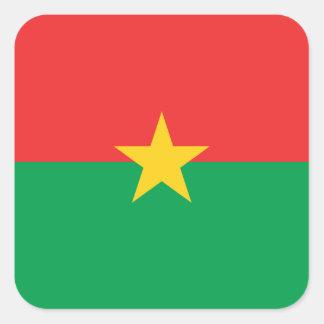 Burkina Faso National World Flag Square Sticker