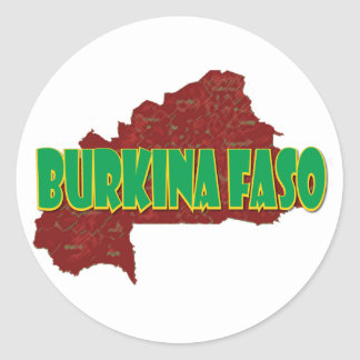 Burkina Faso Round Sticker