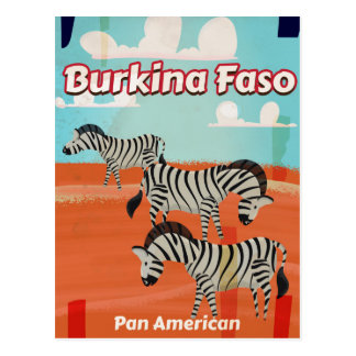 Burkina Faso vintage travel poster Postcard