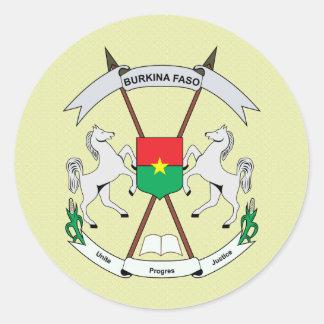 Burkinafaso Coat of Arms detail Classic Round Sticker