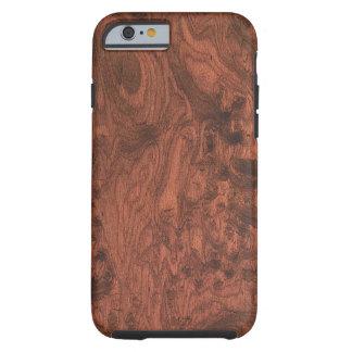 Burl Mahogany Wood Texture Tough iPhone 6 Case