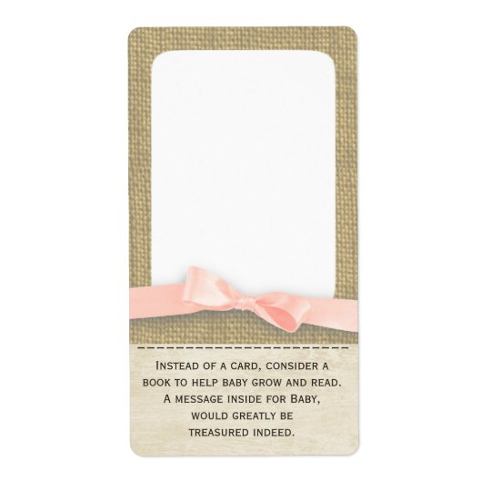 Burlap and Bow Baby Book Tags Shipping Label