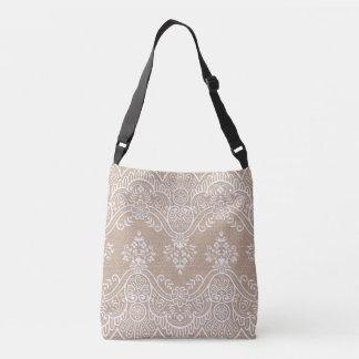 Burlap and Lace Tote Bag