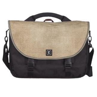 Burlap Background Commuter Bags
