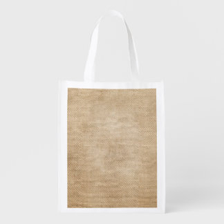 Burlap Background Grocery Bag