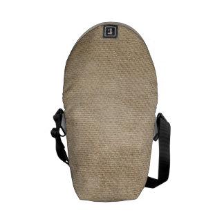 Burlap Background Messenger Bag