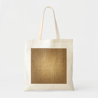 Burlap Background Template Textured Look Budget Tote Bag