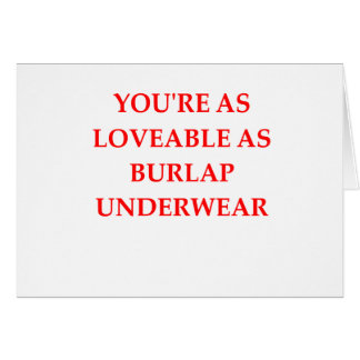 BURLAP CARD