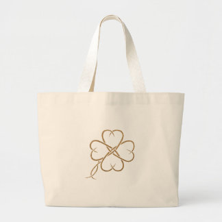 Burlap Clover Canvas Bag