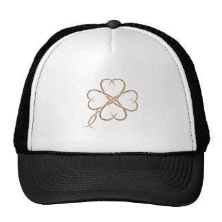 Burlap Clover Mesh Hat